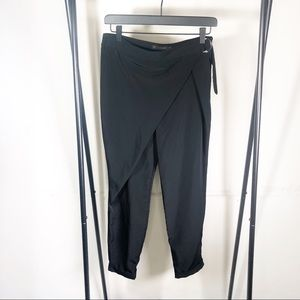 Zara Wrap Silk Pants Belted Waist Size Small